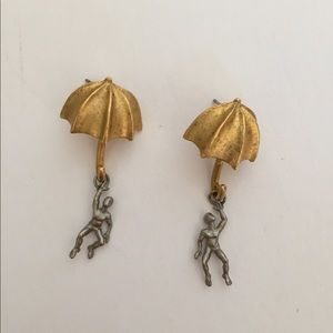 Umbrella Man Earrings